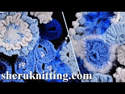 Build Up Freeform Crochet Projects How to Tutorial 1 Part 2 of 2 Freeform Crochet Art - YouTube