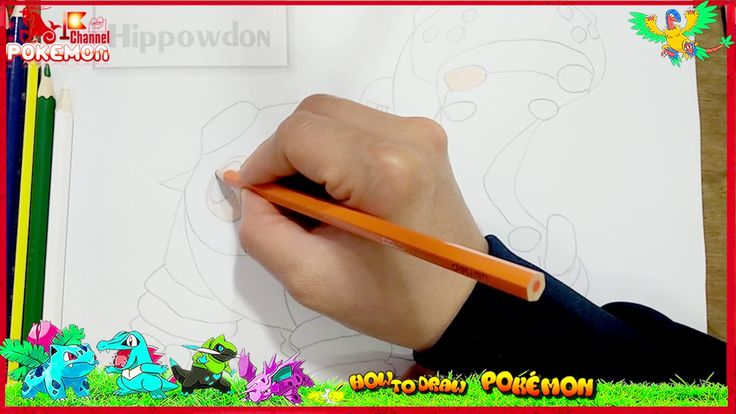 How to draw Hippowdon Pokemon very funny for kids I can not stop laughing ha ha #pokemondrawings #howtodraw #cartoon #pokemon #4kids How to draw Hippowdon Pokemon very funny for kids I can not stop laughing ha ha. Hippowdon is a large hippo-like Pokémon with skin color based on its gender. It is light brown if male and black if female. It has a dark gray back and muzzle with several holes in them. Sand often spills out of the ports on its back and its nostrils. This sand is stored internally…