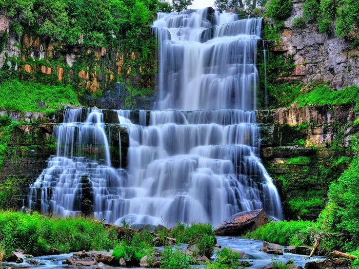 Beautiful Mountain Waterfalls - Bing Images