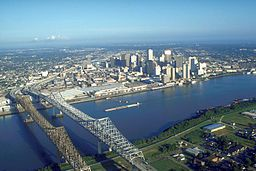 USACE   New Orleans skyline & The Mississippi River
