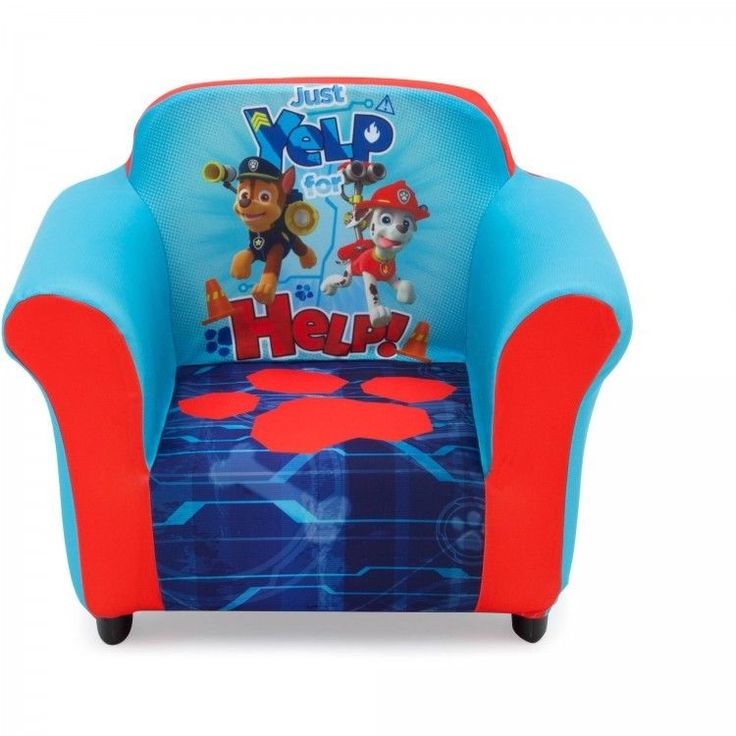 PAW Patrol Toddler Armchair Chase Marshall Rubble Nick Jr Playroom Furniture #NickJr