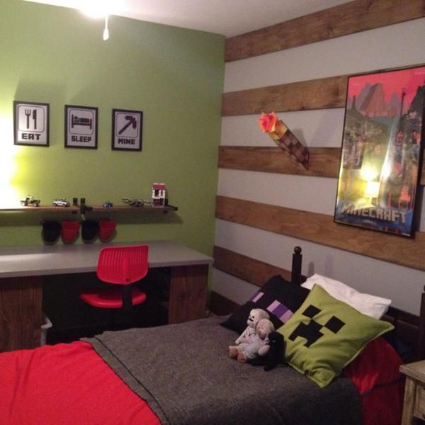 Kids Bedroom Minecraft the 25+ best boys minecraft bedroom ideas on pinterest | minecraft