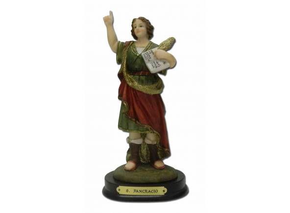 Imagen religiosa de marmolina de San Pancracio / Religious figurine of San Pancrazio.