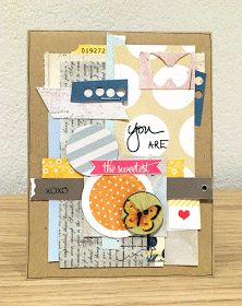 Card with scraps