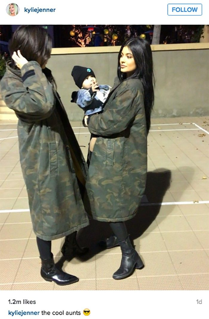 See the Matching Outfits Kendall and Kylie Jenner Wore to Reign Disick's Birthday via @WhoWhatWear