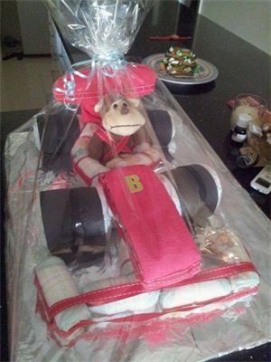 Unique Baby Gifts Baby Nappy Cake- F1 Racing Nappy Cake