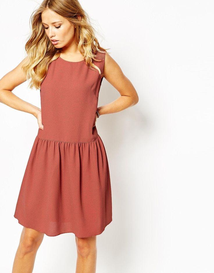 Boss+Orange+Drop+Waist+Apiumi+Dress+in+Pink