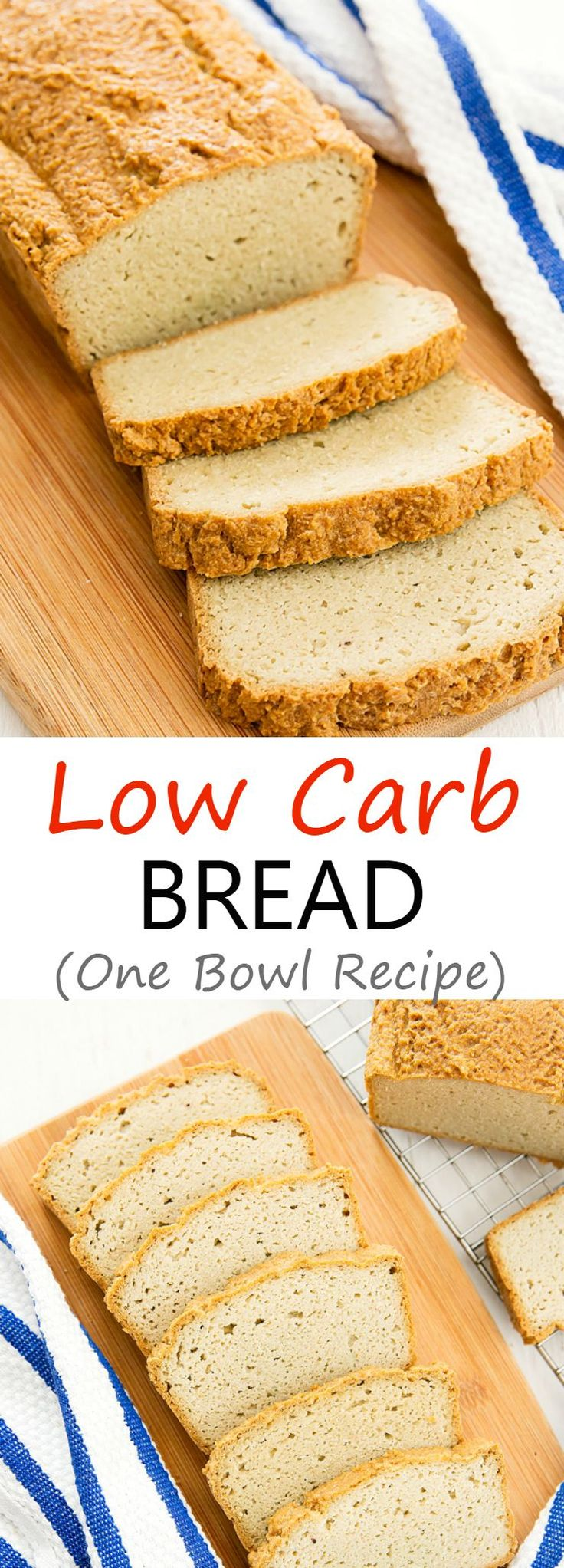 Low Carb Bread. This is an easy, one bowl recipe. The batter is ready in minutes and the bread is also gluten free! Great for sandwiches and toast.