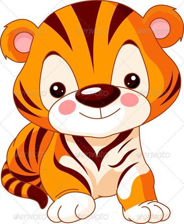 Fun zoo. Tiger - Animals Characters