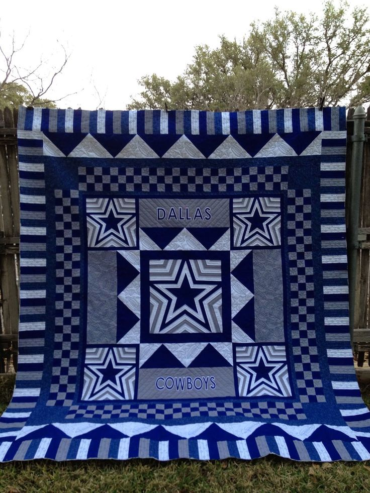 Attention all you Dallas Cowboy Fans. Check this awesome quilt out that Loraine made for her nephew. I think the pictures of the Quilting ...