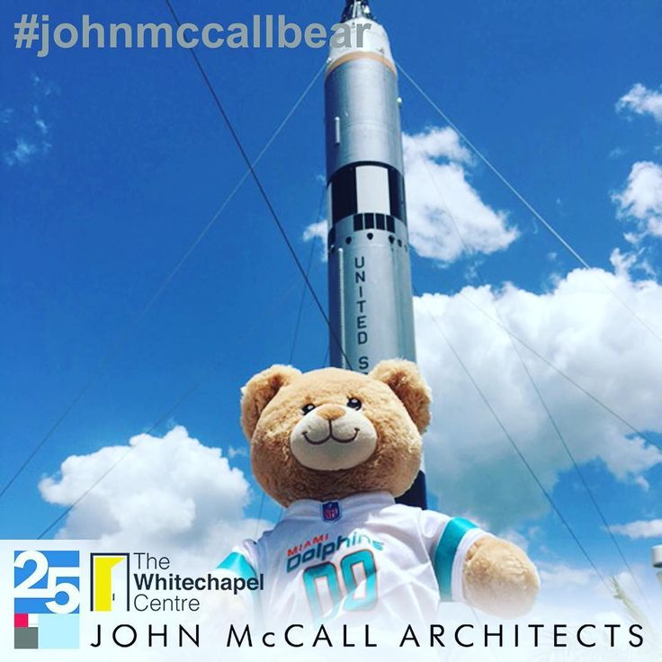 #JohnMcCallBear at NASA in Florida raising money for the Whitechapel Centre.