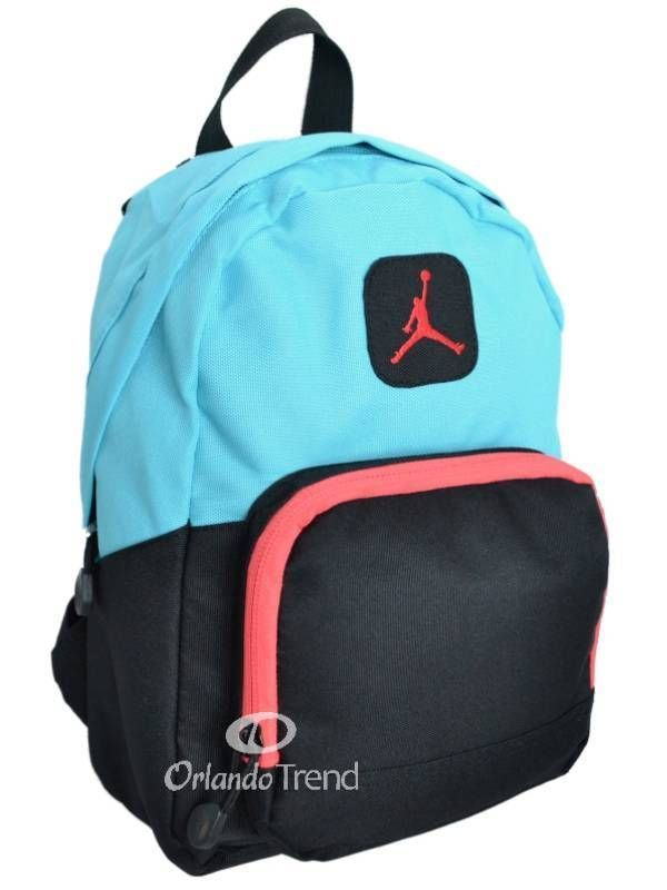 premium selection 3d432 fed57 ... Nike Air Jordan Backpack Pink Black Blue Toddler Preschool Girl Small  Mini Bag…