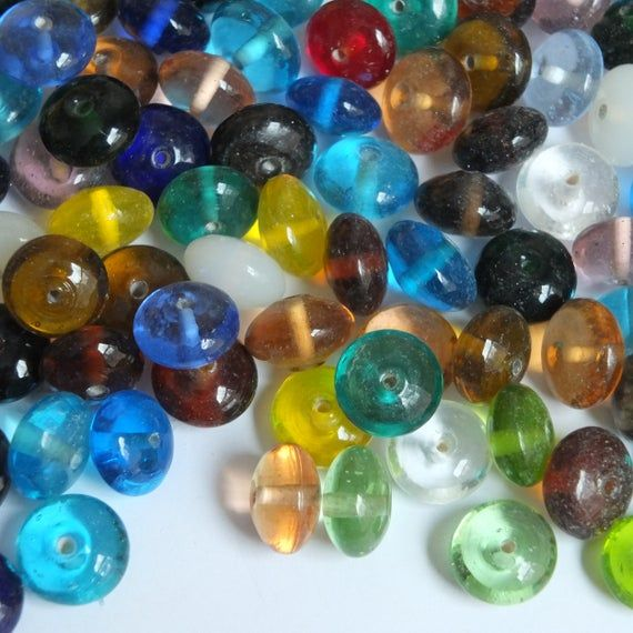 Indian Glass Bead Mix Assorted Transparent Opaque Jewel Etsy In 2020 Glass Beads Beads Rice Bead