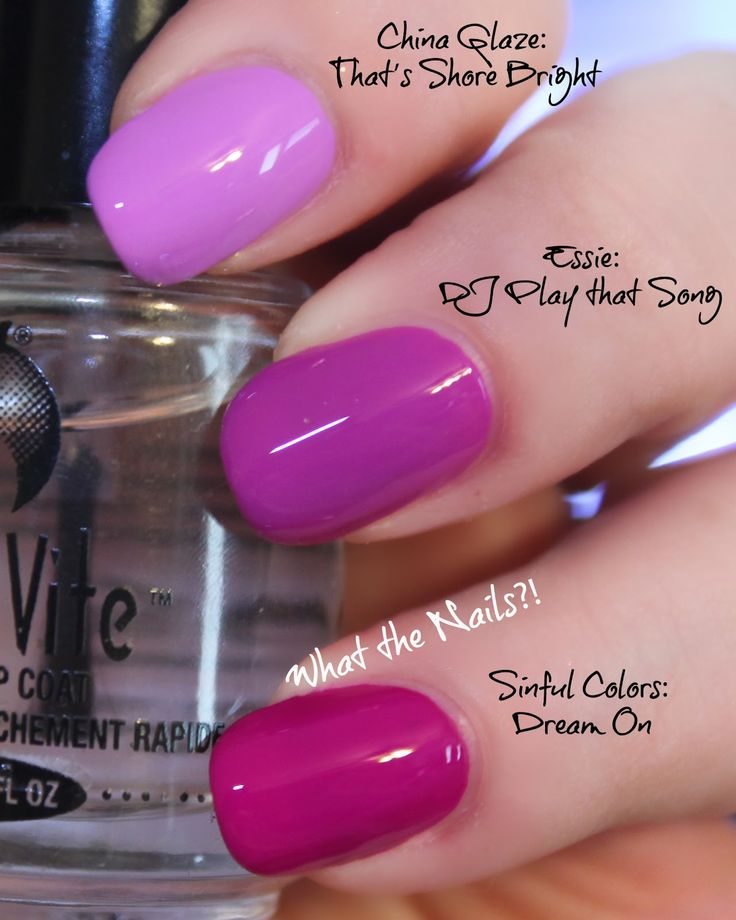 Bright Pink Nail Polish Colors: Neon Comparison Post: China Glaze: That's Shore Bright