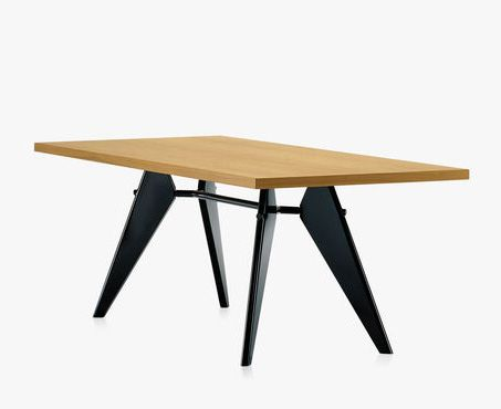 EM Table by #Vitra - Adhering to the aesthetics of necessity, even the details of this table are determined by its construction. #meetingtable #design