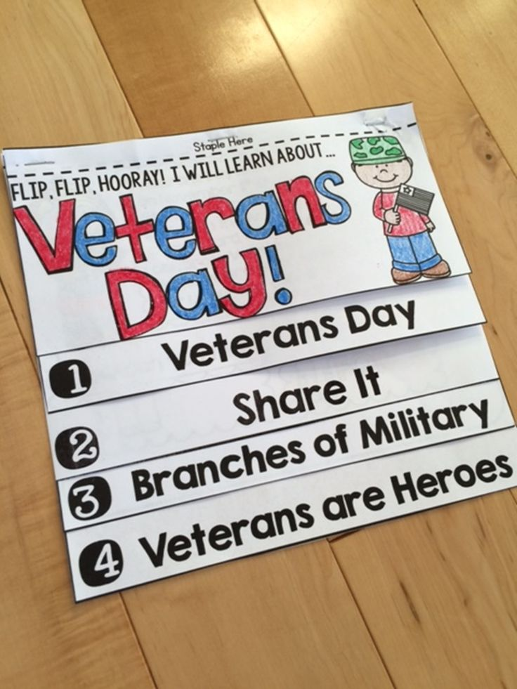 This NO FUSS, NO PREP interactive Veterans Day Flip Book is an ENGAGING way to teach students about Veterans Day!
