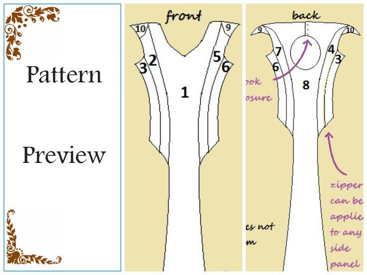 Daenerys targaryen qarth dress pattern pdf download us for Daenerys targaryen costume tutorial