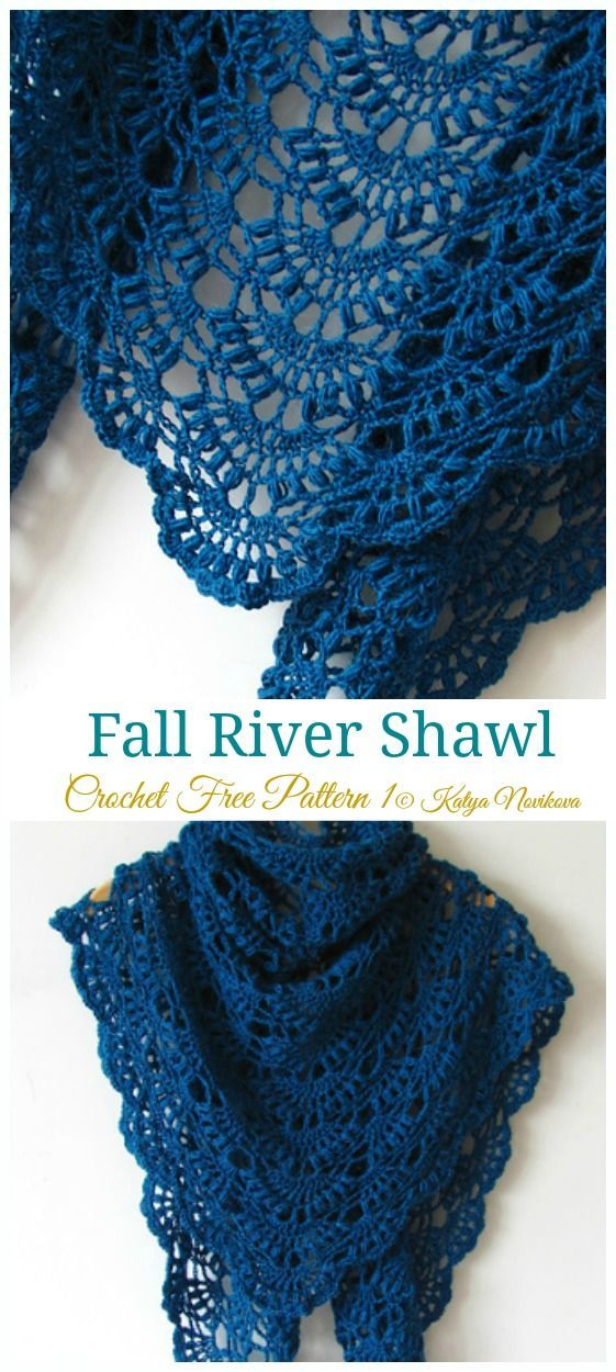 Fall River Schal häkeln kostenlose Muster – Frauen Spitze #Shawl; Kostenloses #häkeln; Patter