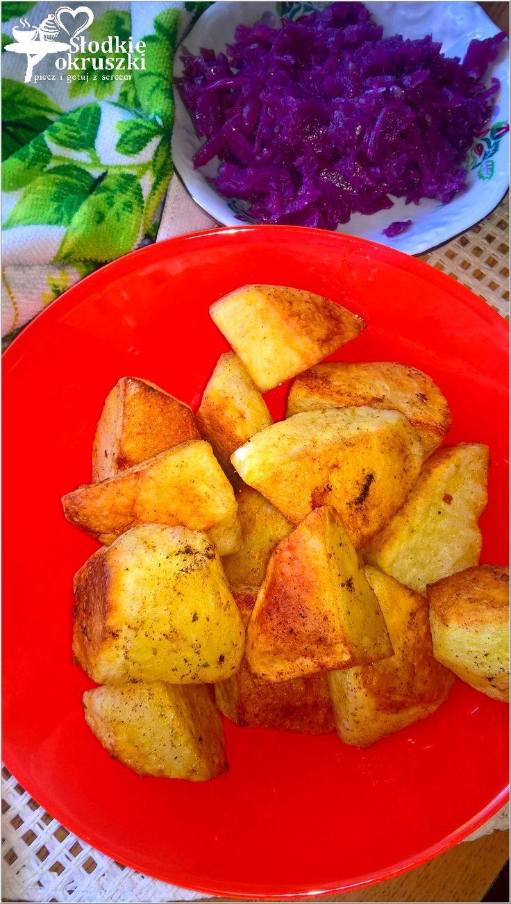 Pieczone ziemniaki w ziołach (na oleju kokosowym)