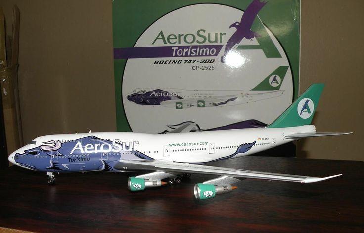 1:200 AeroSur Torisimo Boeing 747 diecast model plane Boeing 747-300 bull | eBay