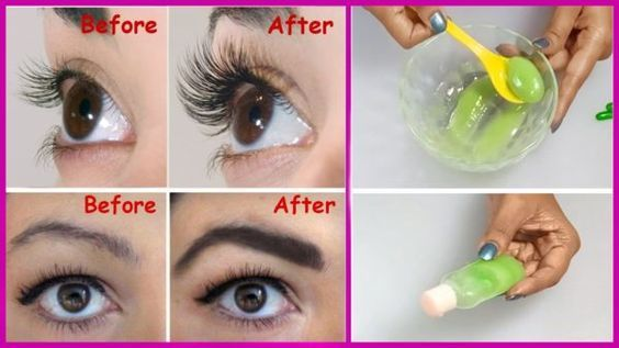Eyelash serum diy 1 teaspoon aloe vera gel 2 teaspoons castor oil 2 vitsmin e capsules Mix well..apply before bed...wash off in the morning