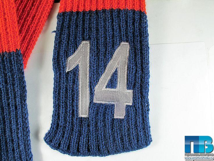 "Вышивка на свитере ""14"""