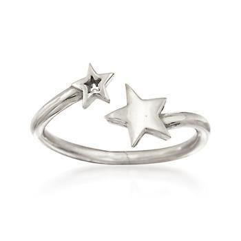 Ross-Simons - Italian Sterling Silver Star Bypass Ring - #843009