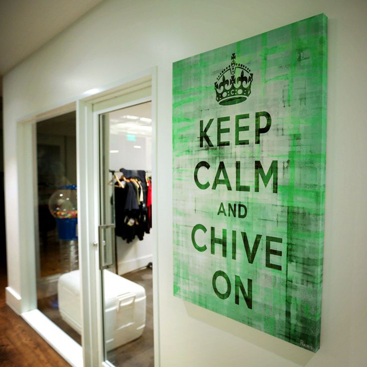 Keep Calm and Chive On Canvas Art – The Chivery