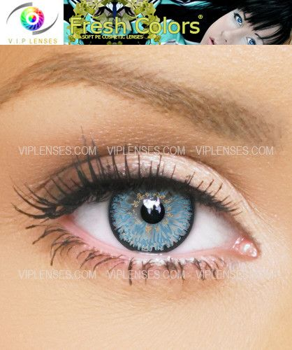 Fresh Colors Light Blue Contact Lenses | VIP Lenses