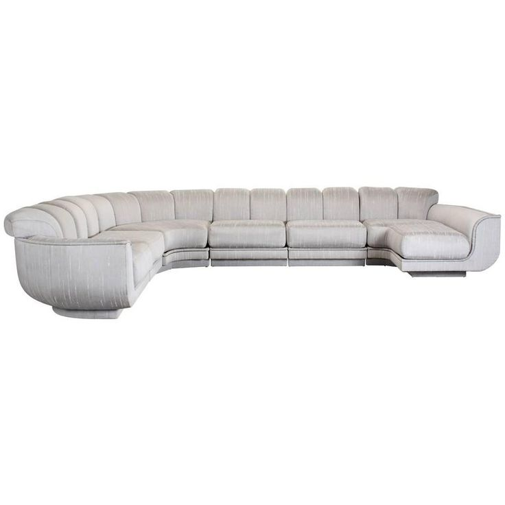 Milo Baughman Style Six-Piece Sectional Sofa for Maurice Villency, 1970s | From a unique collection of antique and modern sectional sofas at https://www.1stdibs.com/furniture/seating/sectional-sofas/