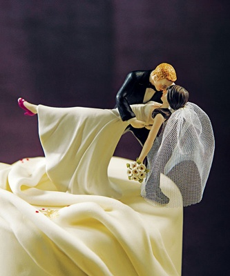 Romantic Wedding Cake Topper...Brunette groom instead of redhead!
