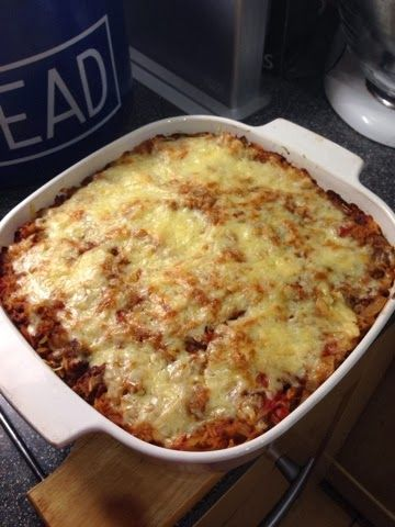 Chili beef bake (slimming world friendly) I am OBSESSED with this recipe! Cannot get enough of it! :) Works just as well with pork mince too.