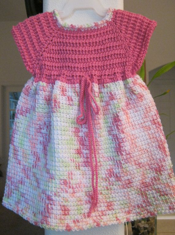 Dark Pink & Variegated Color Crocheted Baby by ForBabyCreations, $30.00
