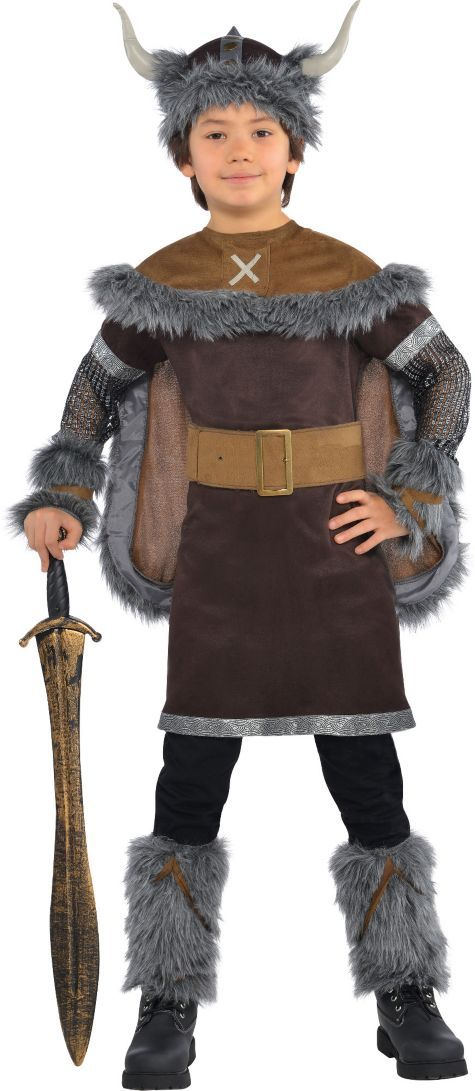 Boys Viking Warrior Costume - Party City