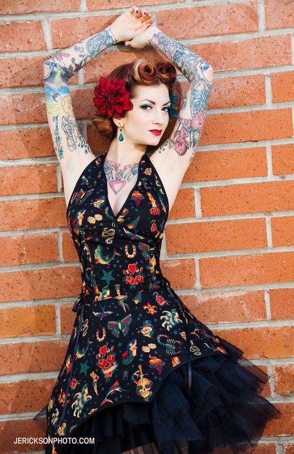 Black Tattoo pin-up dress.