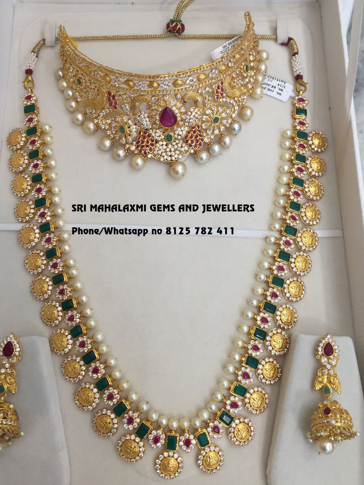 Beautiful long haaram with botu hangings. long haaram with flower design. Long haraam and choker studded with multi color precious stones. 04 March 2018
