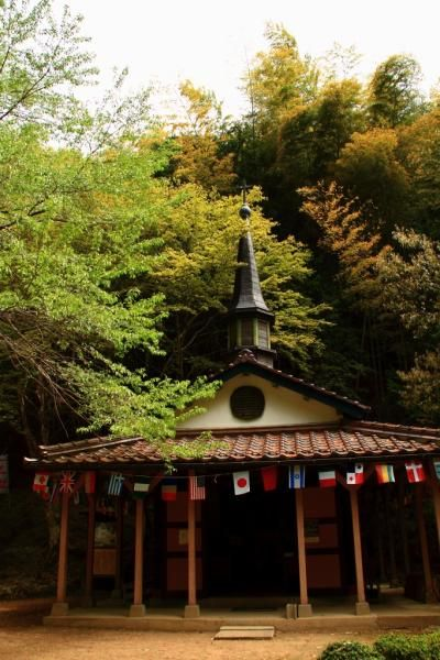 The Saint Mary Church at Otome Pass, Tsuwano, Japan was dedicated in 1951 and is part of a memorial for Japanese Christians persecuted and tortured in Tsuwano by the government during the Edo and Meiji periods.