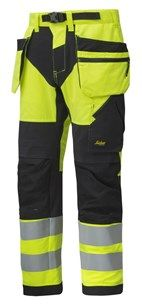 FlexiWork, High-Vis Work Trousers Holster Pockets+ CL2 — Snickers Workwear