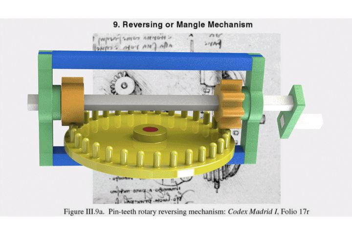 Leonardo Da Vinci's Reversing Mechanism - SketchUp,SOLIDWORKS,Parasolid,Autodesk 3ds Max,OBJ,STEP / IGES,STL - 3D CAD model - GrabCAD