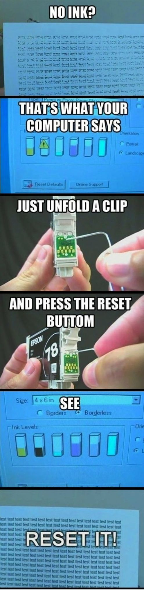 Technology: Reset Ink Cartridge to get Extra Ink