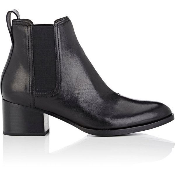 Rag & Bone Women's Walker Leather Chelsea Boots (7.190 ARS) ❤ liked on Polyvore featuring shoes, boots, ankle booties, ankle boots, black, black leather bootie, leather ankle boots, black leather ankle booties and chunky heel ankle boots