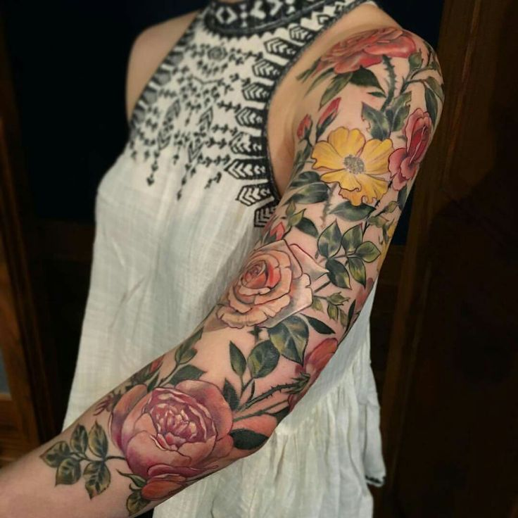Colored Sleeve Tattoo Of Birds: STEPHANIE BROWN Is A Skinny-fat Moon Tanned Cave Dweller