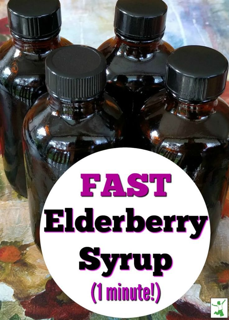 Ultra-Fast DIY Elderberry Syrup (one minute!)