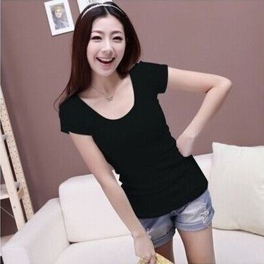 Fashion S-XXL Summer Casual T Shirt Women Tops Plus Size White Black Rose Red Female Short-Sleeve t- shirt
