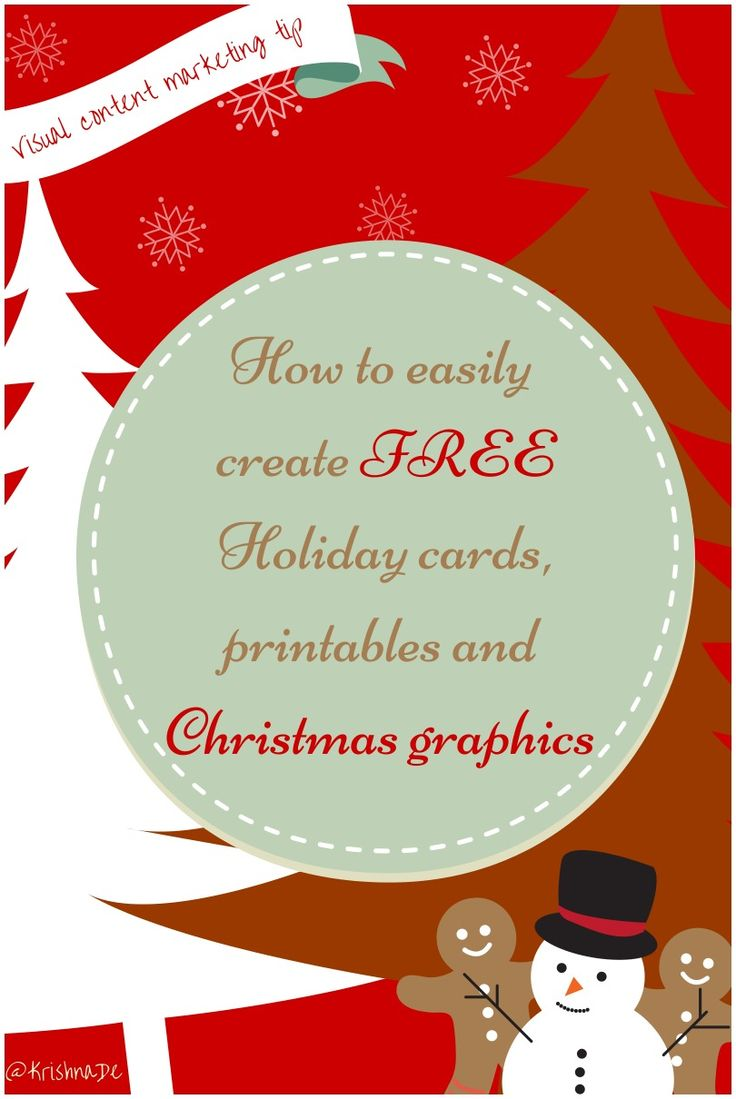 Visual content marketing tip - how to create your Holiday printables and Christmas cards with @Canva - and in the article is a link to get free access to the tool. And of course Canva is not just for Christmas but you can use it for your printables, social media graphics and presentations