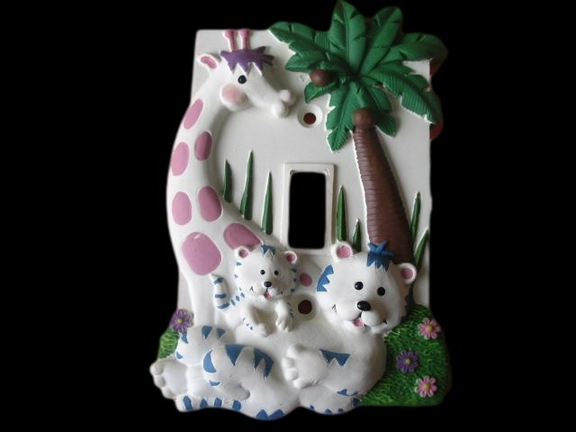 VINTAGE BABY ROOM RETRO SINGLE TOGGLE LIGHT SWITCH COVER PLATE