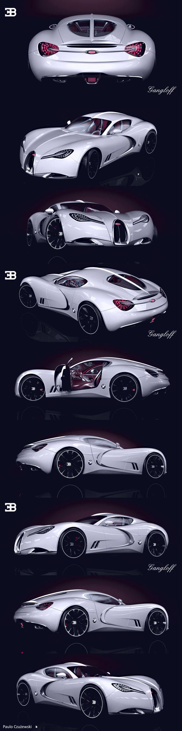Gangloff Bugatti-Concept Design by Paulo Czyzewski