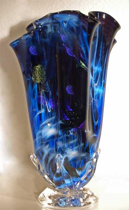 352 Best Art Glass Vases Images On Pinterest Blown Glass Flower