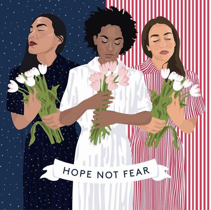 """""""'Hope Not Fear' Indeed.  And what a beautiful piece by Louisa Cannell.  #womensmarch ✨"""""""