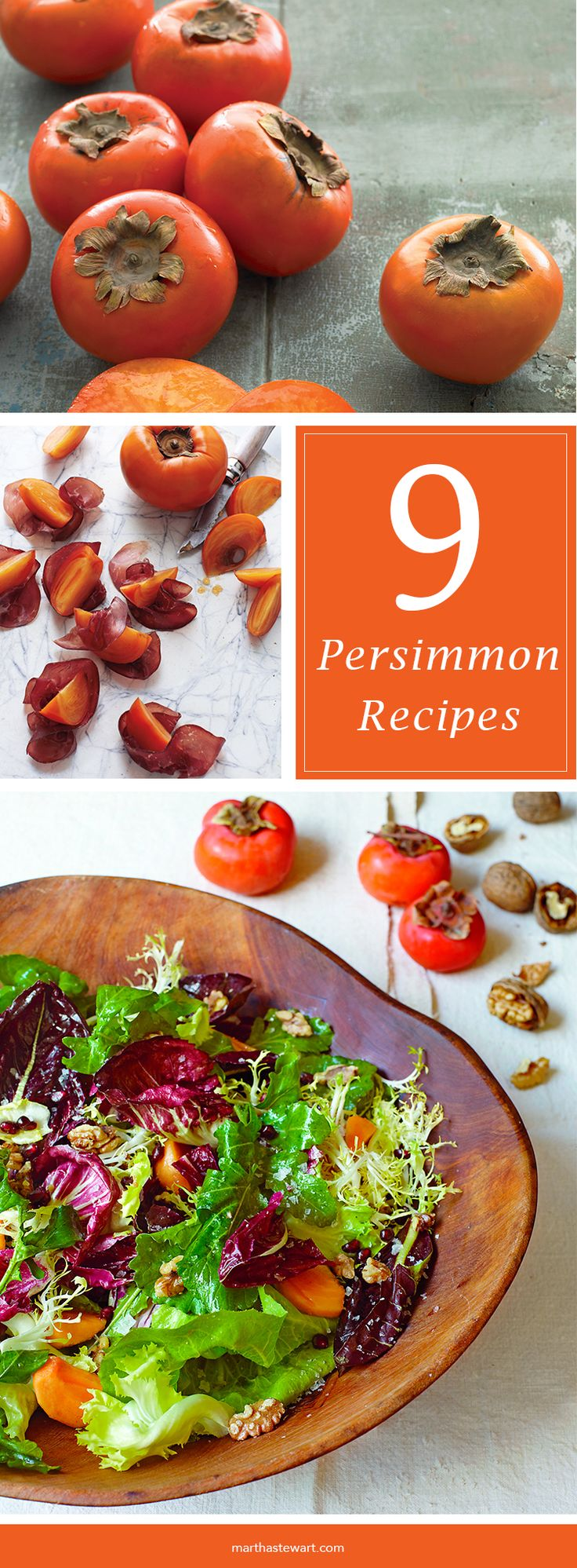 Persimmon Recipes | Martha Stewart Living - There are two main varieties of persimmon commercially available in the U.S.: the acorn-shaped Hachiya and the squat, tomato-shaped Fuyu. Persimmons begin appearing in markets in late September and are available through December.